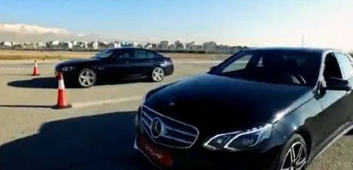 bmw528 Mercedes E250 Drag Race