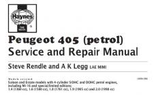 کتاب کامل Peugeot 405 (petrol) Service and Repair Manual